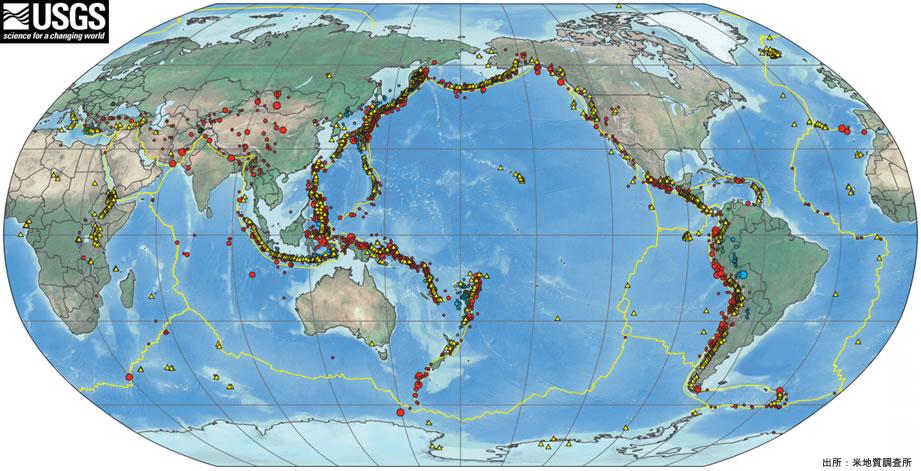 マレーシア不動産 1900~2010までの世界の地震分布図 マレーシアは地震がほぼ皆無