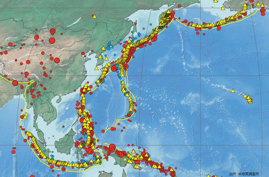 マレーシア不動産 1900~2010年までの東南アジアの地震分布図 地震はほぼ皆無