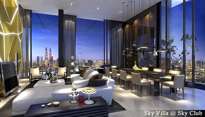 マレーシア不動産「Setia Sky Residences(セティア スカイ レジデンス)」スカイビラ