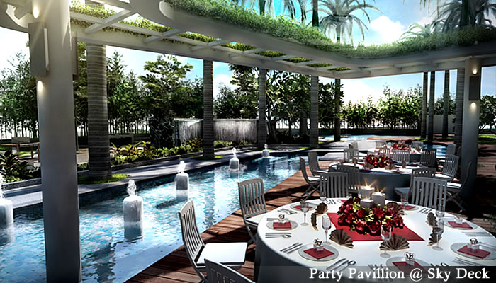 マレーシア不動産「Setia Sky Residences(セティア スカイ レジデンス)」パーティースペース