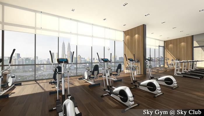 マレーシア不動産「Setia Sky Residences(セティア スカイ レジデンス)」ジムスペース