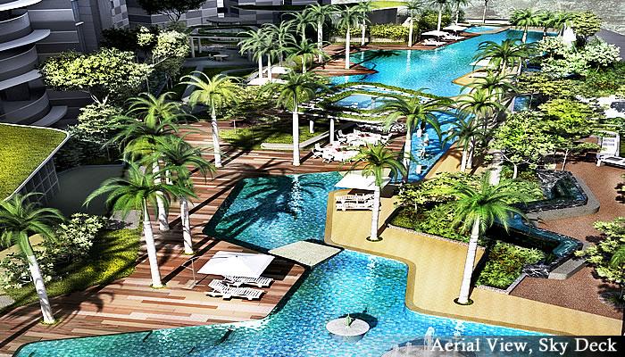 マレーシア不動産「Setia Sky Residences(セティア スカイ レジデンス)」プール